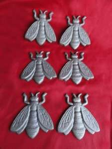 Lot of 6 New Cast Iron Flat Craft Bees Insects