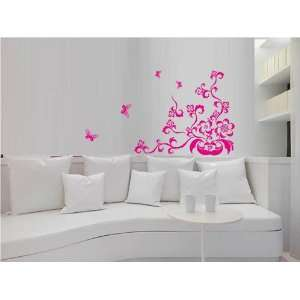 Decoration wall sticker wall mural decor beauty potted