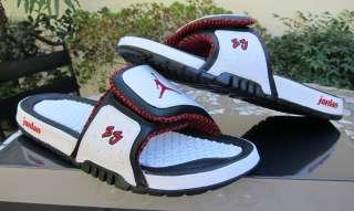 Nike Jordan Hydro 2 Premium White/Red Sandals 456524 101 Sz 8   13