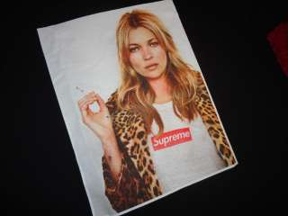 SUPREME 2012 S/S KATE MOSS BOX LOGO TEE SHIRT BLACK M L X SAFARI