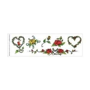 Tattoo King Temporary Tattoo W/Color Red & Yellow Rose