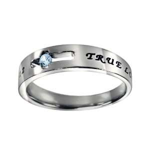 March Birthstone True Love Waits Solitaire Ring Jewelry