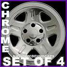 SETOF 4 Jeep 15 Chrome Wheel Skins Rim Covers 5Spoke Hub Caps Steel