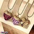 Retro Vintage Leopard Zebra Love Heart Shape Pendant Nacklace 3