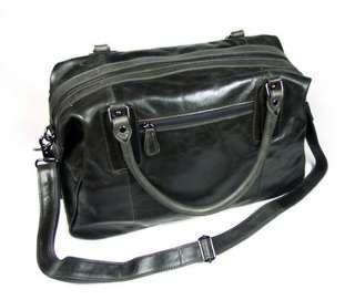 100% Leather Classic Travel Luggage Handbag Cross Body Duffle Gym Bag