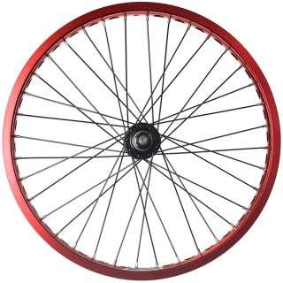 Alloy BMX Bike Wheels Wheelset Narrow Rims Red