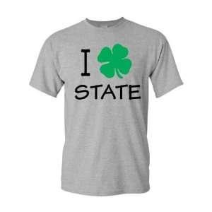 I Love / Heart (Green Clover / Shamrock) State Grey St