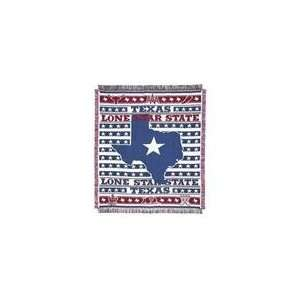Lone Star State Texas Throw Afghan 48 x 60