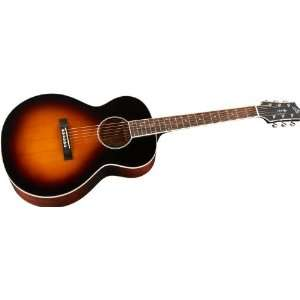 The Loar LH 250 Small Body Acoustic Guitar Sunburst