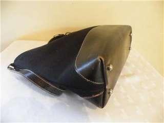 KATE SPADE Black Nylon & Leather TOTE Shoulder Bag Handbag Purse