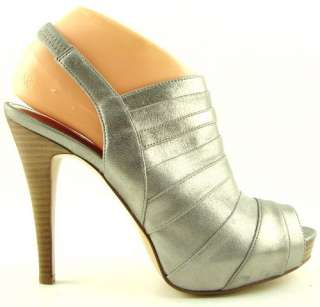 CALVIN KLEIN KAYlOR Light Grey Womens Shoes Platform Heels Metallic