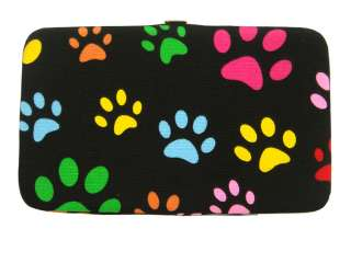 New Fashion Lady Womens Gorgeous Embossed Clutch Wallet WIth Dog Paws