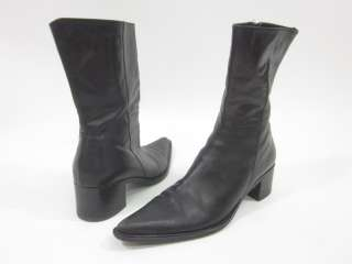KENNETH COLE Black Pointed Toe Ankle Boots Sz 7.5 M