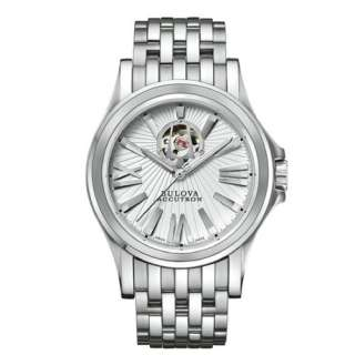 NEW Bulova Accutron Mens Kirkwood Stainless Steel Analog Automatic