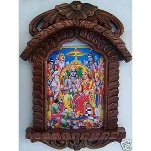 Ram, Sita, Laxman & Hanuman, Painting in Traditional