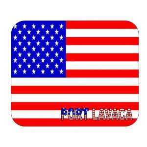 US Flag   Port Lavaca, Texas (TX) Mouse Pad Everything