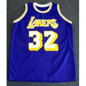 Magic Johnson Autographed LA Lakers Jersey Showtime PSA