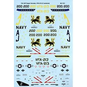 F/A 18 F Super Hornet: VFA 213 (1/48 decals): Toys & Games