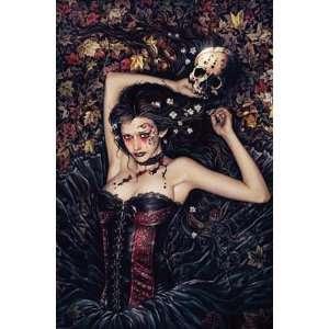Victoria Frances Skull Girl Poster 24 x 36 Aprox.
