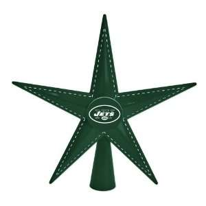9.5 NFL New York Jets Football Metal 5 Point Star