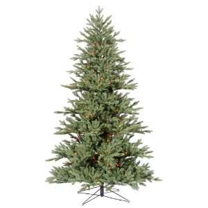 40 Med Blue Noble Fir 200 Multi Color Lights Christmas Tree