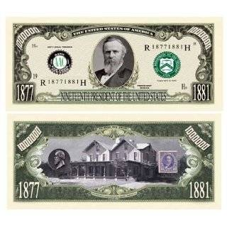 SET OF 100 BILLS RUTHERFORD B. HAYES MILLION DOLLAR BILL Toys & Games