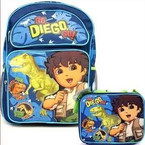 Go Diego Go School Medium Backpack+ Lunch Bag Set