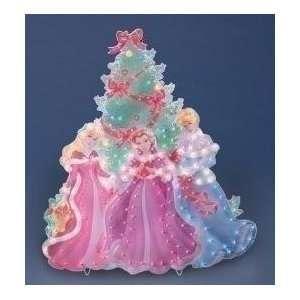 Fairy Tail Princess Trio Lighted Christmas Yard Art: Patio, Lawn