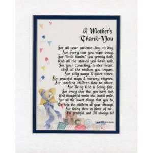 MOTHERS THANK YOU   GIFT FOR DAYCARE NANNY POEM