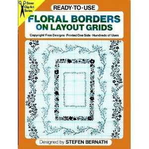 Ready to Use Floral Borders on Layout Grids (Clip Art