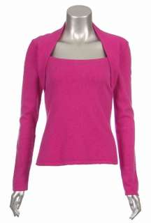 Sutton Studio Womens 100% Pure Cashmere Shrug Neck Sweater