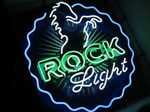 Rolling Rock Light Neon Sign beer bar lite Horse Game room pool Man