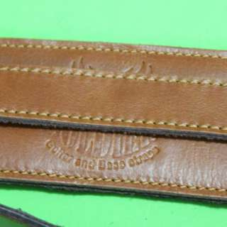 Leather Classic Electric Acoustic Guitar Strap Band Light Brown