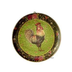 Rooster French Country Hand Painted Plate / Wall Decor
