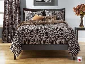 Zebra Zen Black and Tan Animal Print SIS Bed in a Bag Set Choose Size