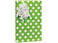 LIME GREEN POLKA DOTS gift wrapping paper TISSUE raffia
