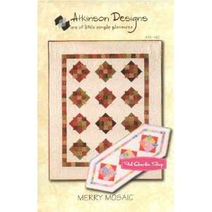 Merry Mosaic Quilt and Runner Pattern By Atkinson Designs