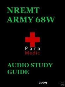 NREMT Army 68W EMT paramedic medic Audio Study guide