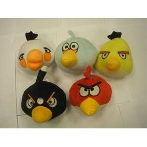 of 5 Angry Birds,xmas Gift Game Toy 5.5 Dolls 5 Colors: Toys & Games