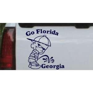 Go Florida Pee On Georgia Car Window Wall Laptop Decal Sticker    Navy