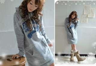 Korea Women Hoodies Sweatshirt Long Tops Outerwear Coat Tracksuits