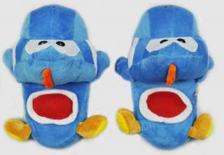 Super Mario Yoshi soft Plush anime Slipper Blue 01