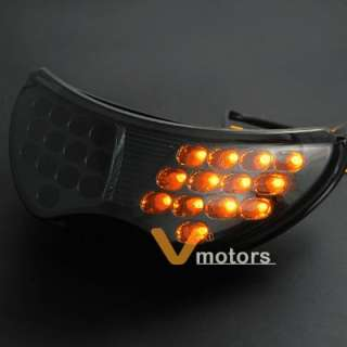 Smoke Integrated Brake Red LED Tail Light Turn Signal For Honda