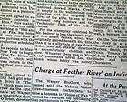 MARILYN MONROE DEATH Joe DiMaggio at Funeral 1962 Newspaper