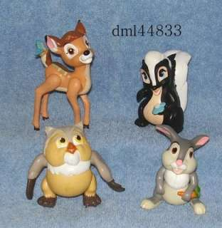 1988 McDonalds Bambi Set   Lot of 4