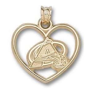 Colorado Avalanche Logo Heart Charm/Pendant Sports