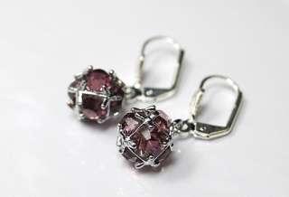 diameter each colour purple stone use swarovski austrian crystals the