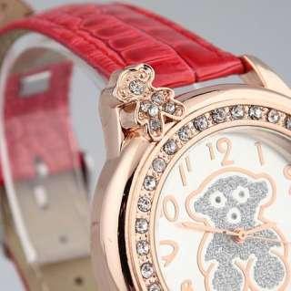 New fashion cute Bear design girl watch crystal woman wristwatches