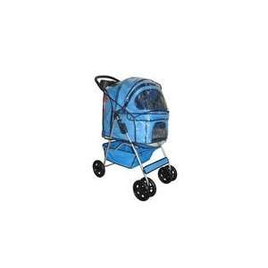 Classic Blue 4 Wheel Pet Stroller