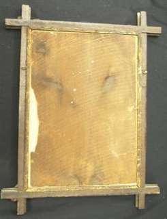 primitive folk art frame 1879 print christian children
